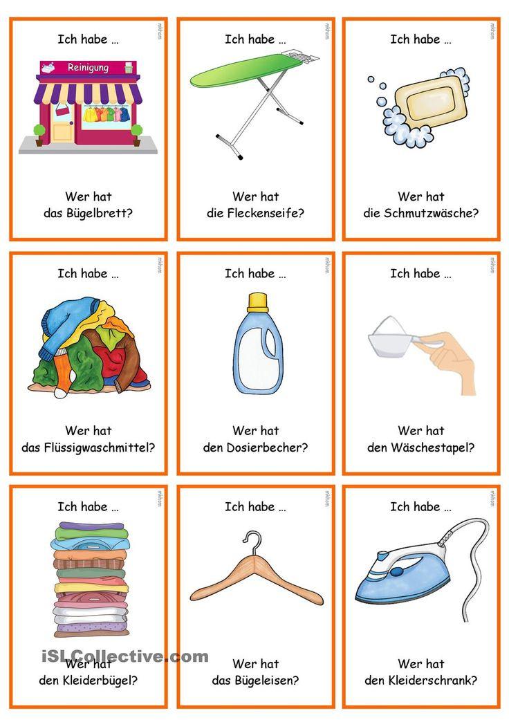 lesespiel waschtag ich habe wer hat easy german lesespiele deutsch unterricht und. Black Bedroom Furniture Sets. Home Design Ideas