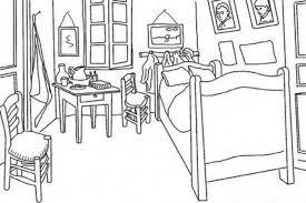 """Colorear """"La habitación del artista en Arlés"""". Van Gogh"""