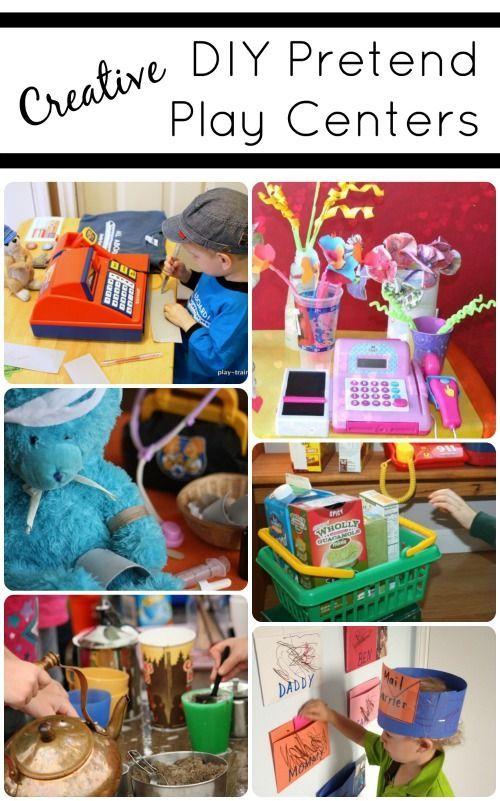 Creative DIY Pretend Play Centers...fun ideas for preschool classrooms and home