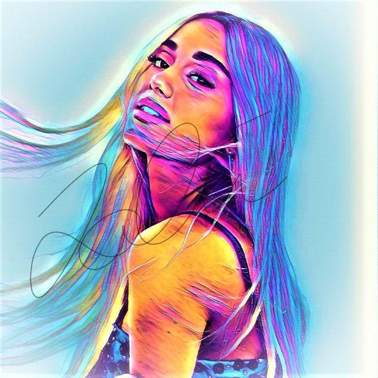 Ariana Grande Abstract Print #ARIANA_ABSTRACT10   Ariana ...