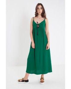 Green version of viscose long dress RUE BISQUIT - Officine Concept #ruebisquit #rue8isquit #longdress