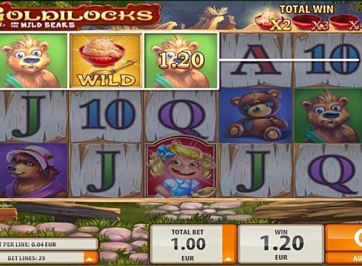 Goldilocks в казино на реальные деньги с выводом    Goldilocks - онлайн игра с 5 барабанами, посвящённая сказочной тематике. Здесь вы будете играть на реальные деньги на 25 линиях. Моментально выводить выплаты из казино помогут фриспины и два диких знака.