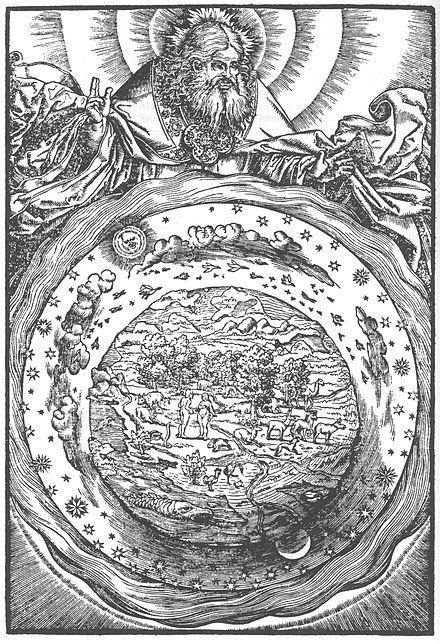 TEORÍA PTOLOMEICA: TEORÍA GEOCÉNTRICA es una antigua teoría que pone a la Tierra en el centro del universo, y los astros, incluido el Sol, girando alrededor de la Tierra (geo: Tierra; centrismo: agrupado o de centro). El geocentrismo estuvo vigente en las más remotas civilizaciones. Por ejemplo, en Babilonia era ésta la visión del universo1 y en su versión completada por Claudio Ptolomeo en el siglo II en su obra El Almagesto.
