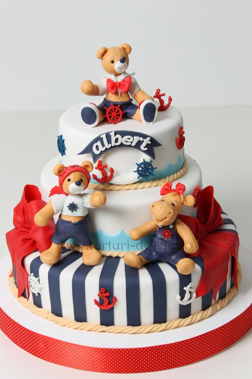 Navy themed christening cake for Albert - Cake by Viorica Dinu