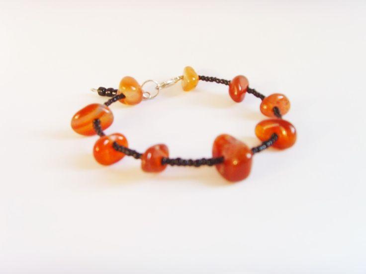 Bracelet Ethnique Perles Marron Noir . : Bracelet par crea-mania