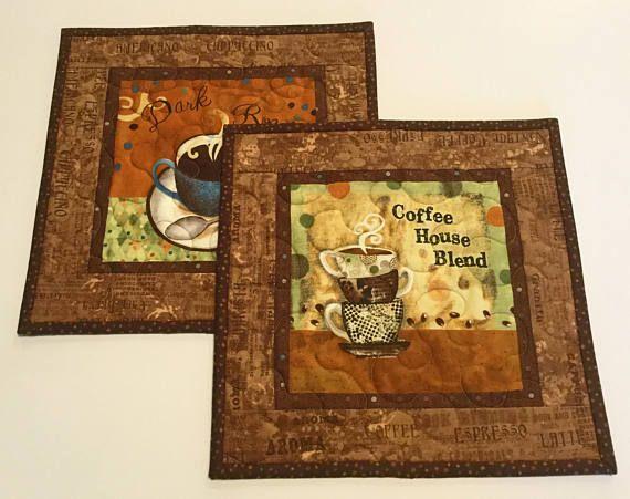 Coffee Theme Mug Rug Gift for Coffee LoverCoffee House Mug