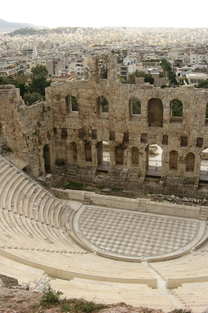 Odeon of Herodes Atticus- This spectacular theatre structure stands to the southwest of the Acropolis. It was built in 161 AD on the commission of Greek aristocrat, Herodes Atticus, to commemorate the memory of his wife. For more information visit http://www.guiddoo.com/