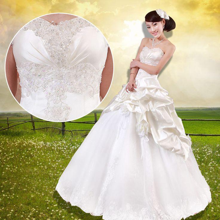 robe de mariée de princesse douce en dentelle 744