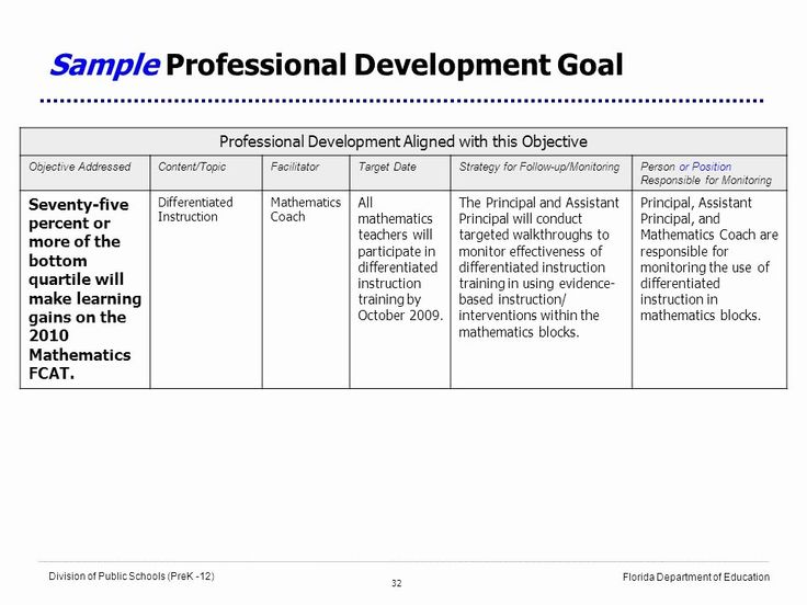Sample Professional Development Plan Elegant School