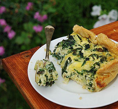 Летний сырной пирог со шпинатом и цуккини: ranja