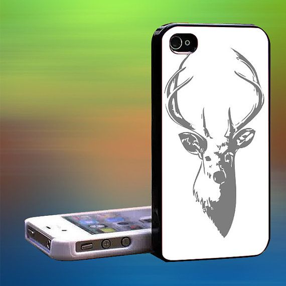 Deer Head Buck Black Camo Custom Case iPhone by laskarspelangi, $14.89