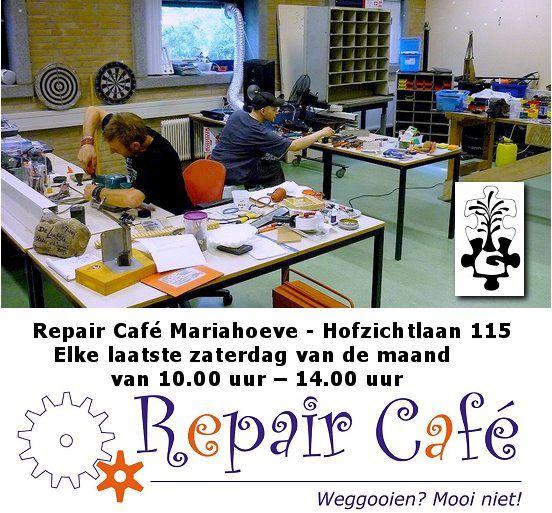 25 Jun - Repair Café  Mariahoeve - http://www.oktip.nl/25-jun-repair-cafe-mariahoeve-geopend/ -Repair Café Mariahoeve  Het Repareer Café team zit tussen 10 - 14 uur met koffie voor u klaar om elektrische apparaten met een (klein) mankement, kleding die een nieuw naadje nodig heeft of uw fiets te repareren.  Dus neem alle klusjes die in huis liggen mee en leg ze voor aan het team. Wie w...