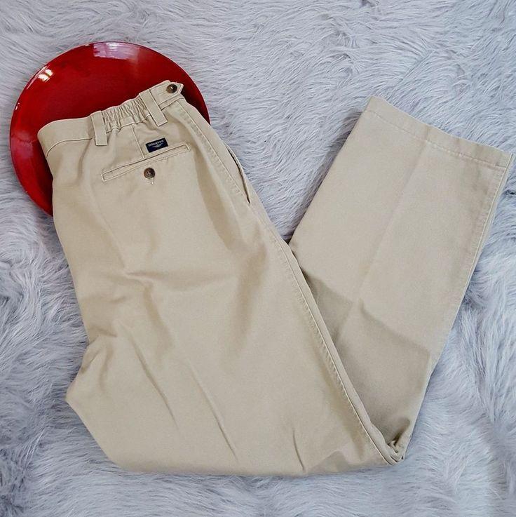 Dockers Mens Pants Size 38x32 Pleated Chino Khakis Straight Adjustable Waist  #DOCKERS #KhakisChinos