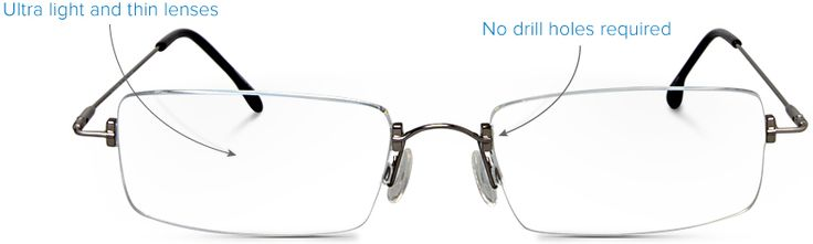 Rimless Glasses Distortion : 17 Best images about Rimless Frames on Pinterest Metal ...