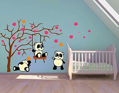 Unique S es Panda Wandtattoo f r das Kinderzimmer