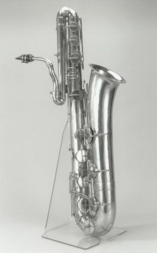 unusual early bass saxophone