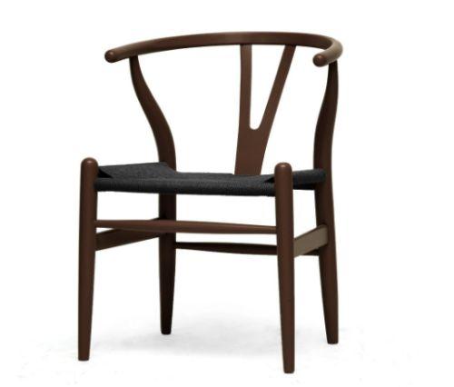 Black Wood Wishbone Y Chair by Baxton Studio