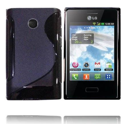Solid S-Line (Sort) LG Optimus L3 E400 Cover