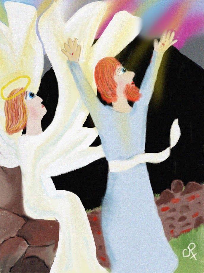 Engel bij het graf - Jezus is opgestaan