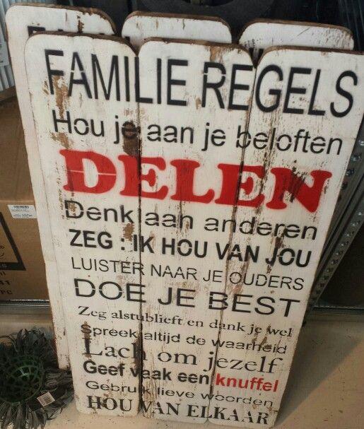 Familie regels