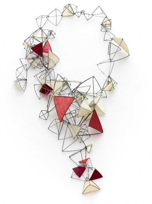 "Palpitation Series Necklace by TIA KRAMER-USA - Sneak Peek: ""Showcase 500 Art Necklaces"" book"