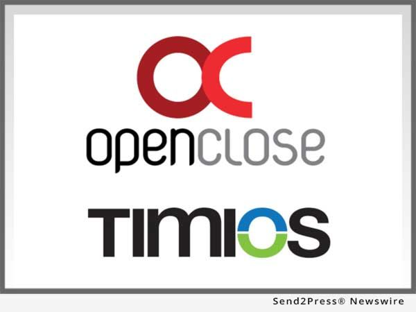 OpenClose, a multi-channel loan origination system (LOS) and mortgage software solutions provider, announced that it integrated with Timios, Inc., a national provider of title and settlement services to banks, financial institutions and mortgage lenders.