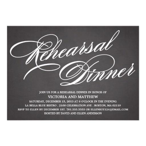 CHALKBOARD SCRIPT 2 | REHEARSAL DINNER INVITE #wedding
