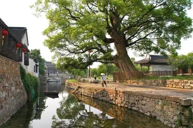 Ancient Bright Moon Village near Suzhou