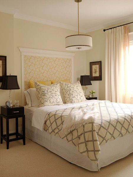 Framed wallpaper as a headboard...makes it easy to change when you want