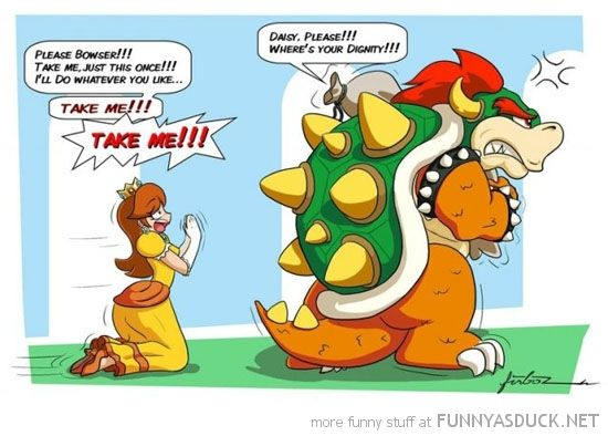Role Starved #PrincessDaisy gets desperate as #Nintendo continue to neglect her character.  More funny Mario comics and pictures at http://www.superluigibros.com/funny-pictures/