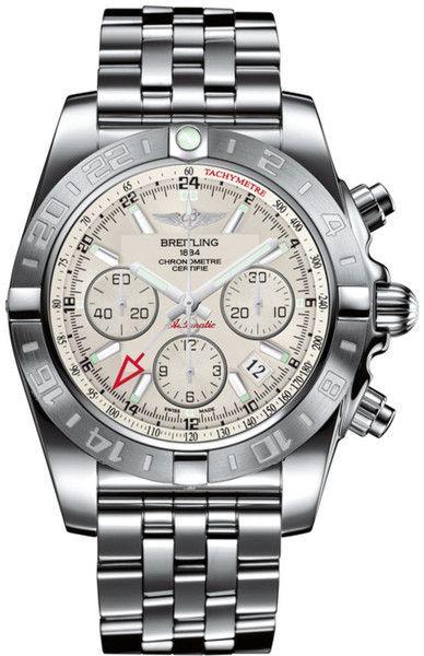 @breitling  Watch Chronomat 44 GMT #bezel-bidirectional #bracelet-strap-steel…