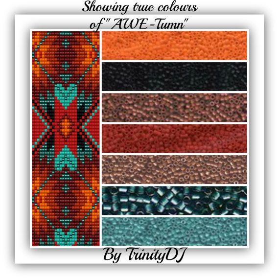 BP-LOOM-029 Awe-Tumn Loom/Square Stitch Beadwork by TrinityDJ