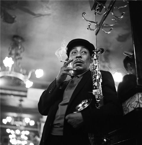 Johnny Hodges by Herman Leonard. (Paris, France, 1958)