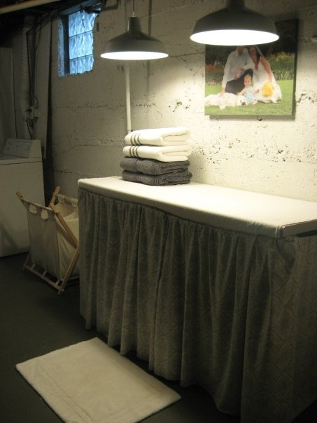 Basement Laundry Room Folding Table Which Could Also Be Used As Ironing Board