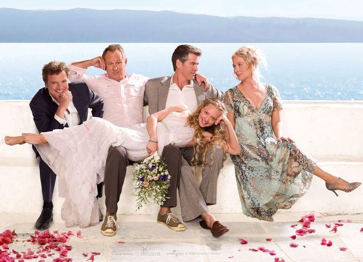 a girl wishes for one dad and gets three all at once? LOL!! I love Mamma Mia!