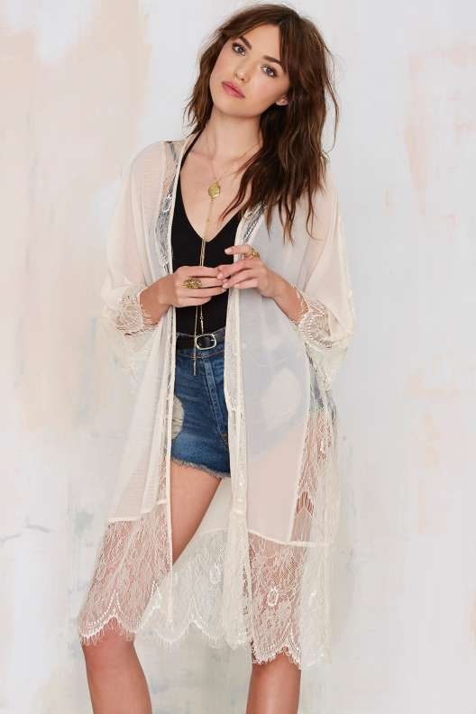Lash Out Lace Kimono