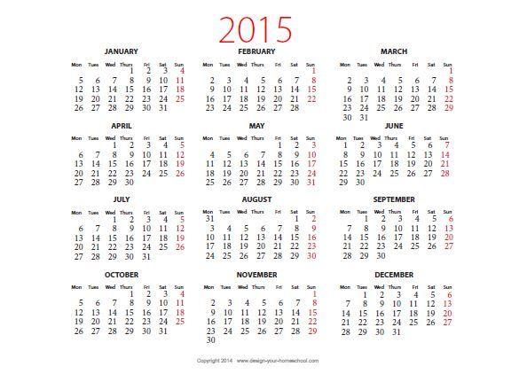 year calendar template 2015 radiotodorock