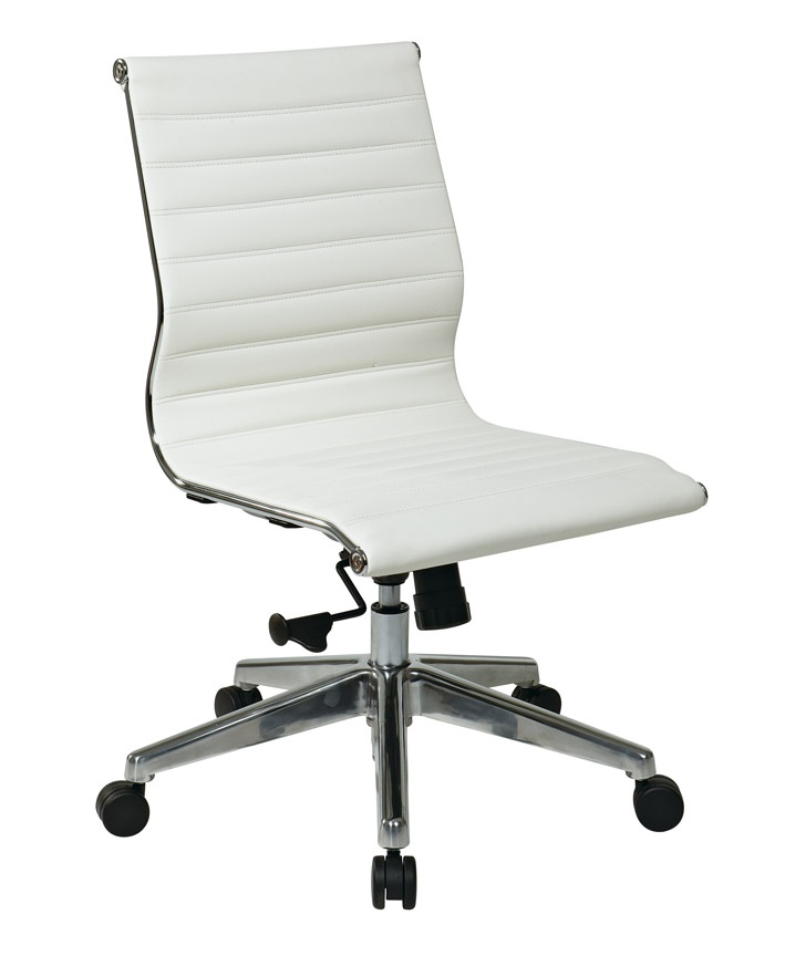modern office chair leather. armless midback eco leather modern office chair u2022 seat and back r