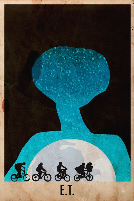 E.T.: Minimalist Posters, Minimalist Movie Posters, Movieposters, Minimal Movie, E T, Movies, Art, Film Posters, Harsh