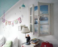 Altes Fenster als Raumschmuck