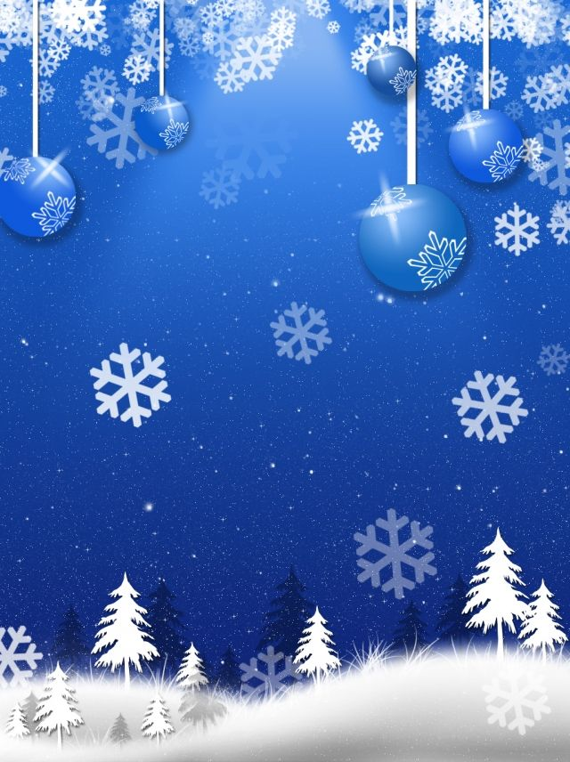 Blue Romantic Beautiful Christmas Christmas Balls Christmas Tree Snow Snowflake Background Merry Christmas Poster Romantic Christmas White Christmas Ornaments Merry christmas snow background hd