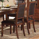 Dining Room Side Chair in Dark Brown Bi-Cast Vinyl By Homelegance (Set of 2)