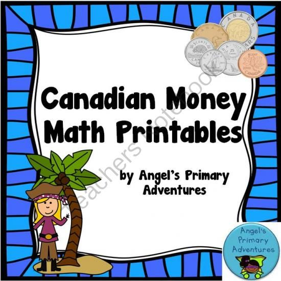 Canadian Money (Coins) Math Printables from Angel's Primary Adventures on TeachersNotebook.com - (30 pages) - Set of 30 math printables working with Canadian coins to $1.00.