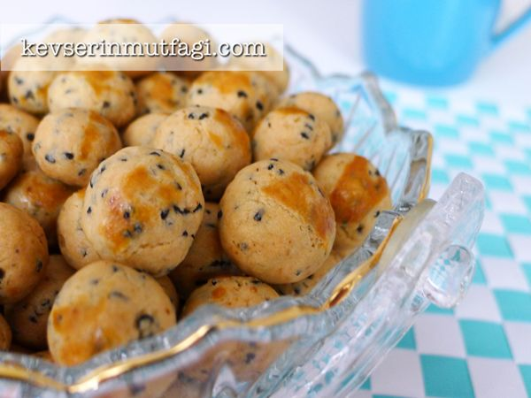 Çörekotlu Mini Kurabiye Tarifi - Kevser'in Mutfağı - Yemek Tarifleri