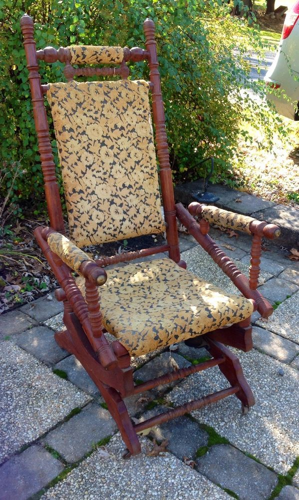 Victorian Platform Rocking Chair Rocker 1800 S Victorian