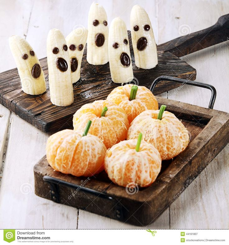 Download Healthy Halloween Treats Made Fruit Stock Image via CartoonDealer. Healthy Halloween Treats Made Banana Ghosts Clementine Orange Pumpkins. Zoom into our collection of high-resolution cartoons, stock photos and vector illustrations. Image:44161807
