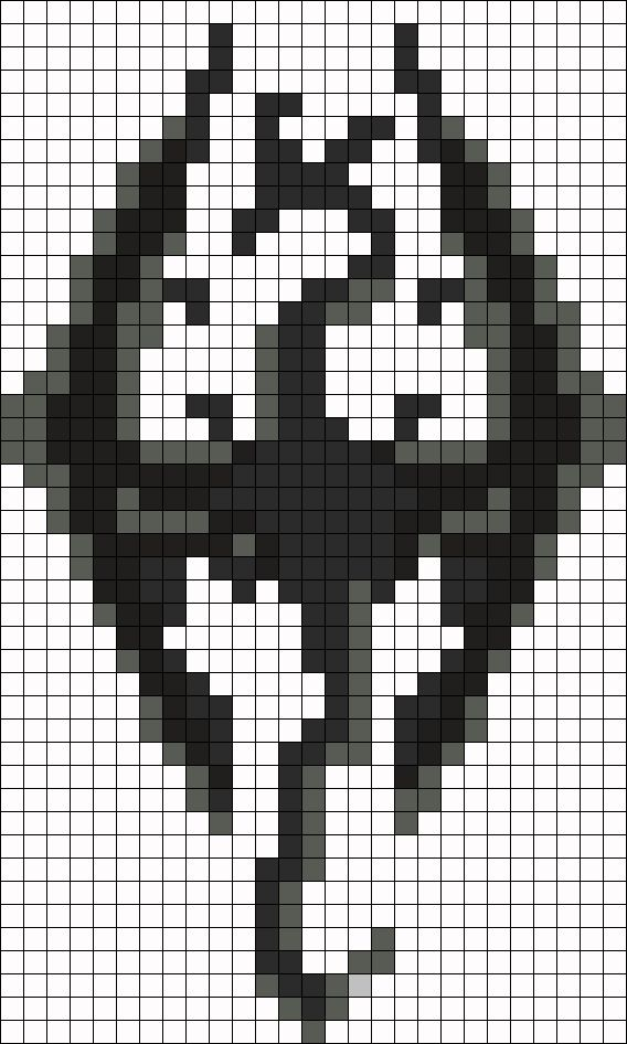 The Elder Scrolls V: Skyrim Perler Bead Pattern