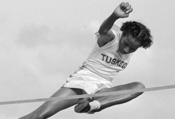 "Alice Coachman ""High Jump"" at the 1948 London Olympics- was the first African American to win an Olympic gold medal..."