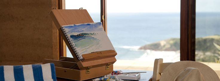 Sky House on Kangaroo Island:  for the perfect South Australian weekend getaway. This rammed-earth villa is located on the highest point of the property with sweeping views of the rugged coastline as far as the eye can see and on to the beach below. The slow combustion fireplace, the huge Villeroy & Boch bathtub, the internal floor heating under the bedroom/bathroom and the complete solitude keep temperatures high all year round. Helivista helicopters can fly you there.