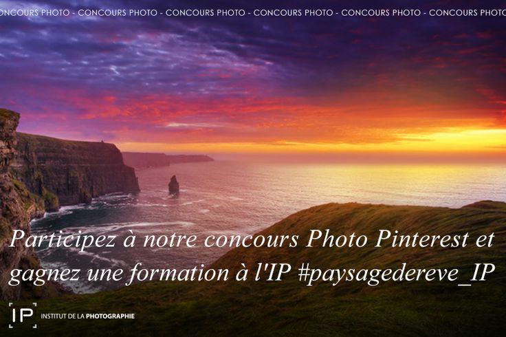 """Participez à notre concours photo """"Paysages de Rêve"""" et gagnez une formation à l'IP. Du 25 au 29/11. Pour participer, suivez les étapes : 1. Suivez notre compte http://www.pinterest.com/institutphoto 2. Taggez votre photo : #paysagedereve_IP Le gagnant sera élu par un jury composé de professionnels et tuteurs à l'IP. Pour voir l'intégralité du règlement de notre concours, rendez-vous sur l'url :  http://on.fb.me/1hcspgk #concoursphoto #concours #ip #institutdelaphotographie #paysagedereve_IP"""
